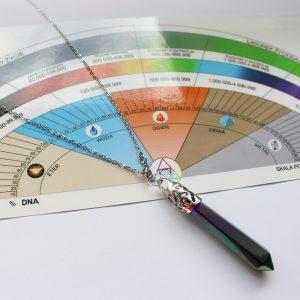 Zestaw: Skala pomiaru wibracji + wahadełko Aura kwarc